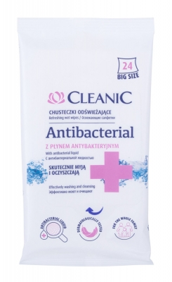 Antibacterial Refreshing Wet Wipes - Cleanic - Dezinfectant