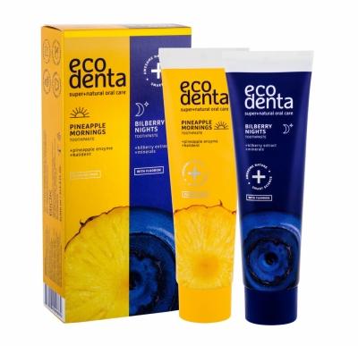 Set Toothpaste Pineapple Mornings - Ecodenta - Igiena dentara